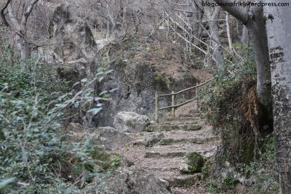 ruta los cahorros escaleras